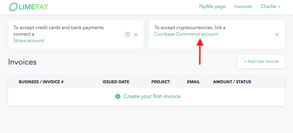 coinbase commerce account - Limepay