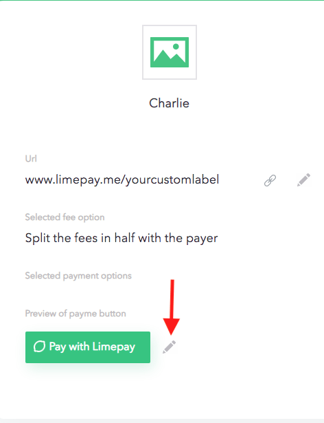 limepay payme page settings