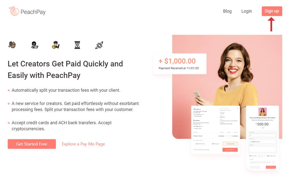Sign Up PeachPay