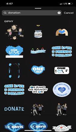 Limepay - Instagram donation stickers