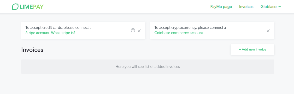 Limepay stripe connect